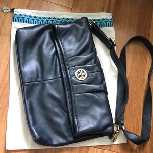 Like New Condition! Tory Burch Black Leather Bag